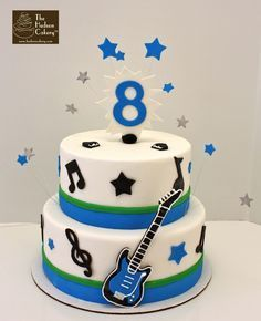guitar music cake. I would like this with red instead of blue