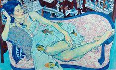 © Hope Gangloff - Queen Jane Approximately - Contemporary Artist - Figurative Painting Queen Jane Approximately, Figure Painting, Painting & Drawing, Hope Gangloff, Graphisches Design, Colossal Art, Art Graphique, Gustav Klimt, Art Plastique