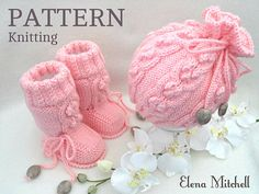 Knitting PATTERN Baby Girl Outfit Baby Booties Knitted Baby Hat Baby Beanie Knitted Baby Shoes Pattern Newborn Baby Girl Pattern in English Baby Knitting Patterns, Pattern Baby, Crochet Baby Dress Pattern, Crochet Baby Beanie, Baby Hats Knitting, Crochet Baby Shoes, Baby Dress Patterns, Hat Crochet, Baby Set