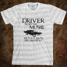 Driver Picks The Music Supernatural - ColorShow - Skreened T-shirts, Organic Shirts, Hoodies, Kids Tees, Baby One-Pieces and Tote Bags Custom T-Shirts, Organic Shirts, Hoodies, Novelty Gifts, Kids Apparel, Baby One-Pieces | Skreened - Ethical Custom Apparel