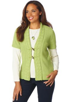 $26.98 Short Sleeve Texture Cardigan  Christopher and Banks