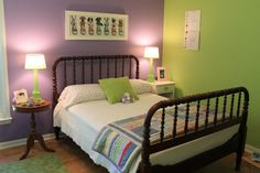 Purple And Green Paint For Alea S Room Bedrooms Kids Rooms