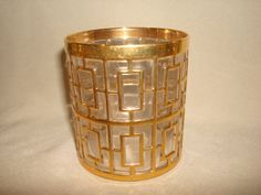 4 Available - Vintage Imperial Glass On the Rocks Tumbler ~ Gold Shoji TIKI BAR Hollywood Regency ~ Trader Vic's by PastPossessionsOnly on Etsy