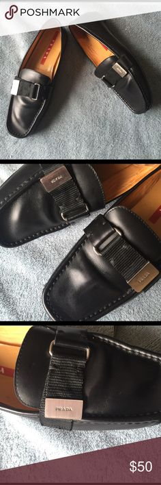 PRADA LOAFERS Great condition, worn but still good, size 6, authentic Prada made in Italy Prada Shoes Flats & Loafers