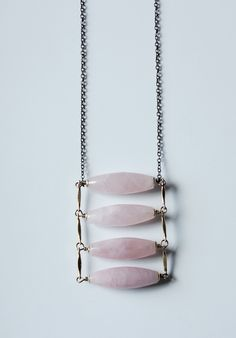 rose quartz necklace gold pink quartz necklace rose quartz pendant necklace brass ladder necklace modern minimalist long statement necklace by Xuanqirabbit on Etsy.long modern minimalist boho jewelry minimal necklace,bohemian jewelry minimalist jewelry. boho necklace,bohemian jewelry,simple jewelry,minimal fashion,minimalist fashion.marble jewelry.marble necklace,modern jewelry,urban jewelry,boho fashion,bohemian fashion,contemporary jewelry,architectural jewelry tribal jewelry