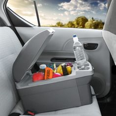 Easily transport warm and cold dishes in your car with an electric cooler and warmer. Bring potluck items to their destination and keep them fresh on the way or use this handy car accessory on your next road trip.