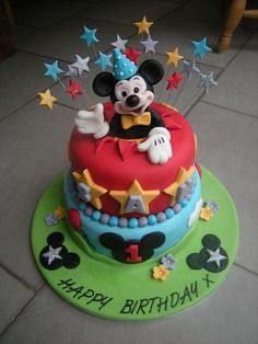 Party Mickey by Rachel's Cakes, via Flickr