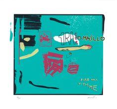 """Fire Walk With Me"" by Maillo. guntergallery.com www.guntergallery... #artprint #silkscreen #arthunter #serigrafia #instaart #art #graphicart #serigraphy #printing #streetart #guntergallery #illustration #screenprint #ilustracion #cosasbonitas #gift #artgift #unique #picoftheday #artshop #dyingart #artlovers #illustrator #decoracion #decoration #artejoven #artcollection"