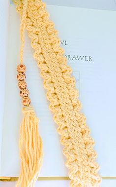 Crocheted Bookmark:  http://thesepeastastefunny.blogspot.com/search?updated-max=2011-11-03T05:00:00-04:00=5