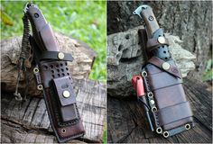 Becker Bk2 With Hedgehog Leather Works Scout Carry Sheath