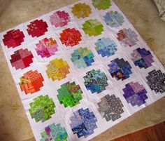 Tanya Quilts in CO: Tutorial for chunky log cabin blocks - good for showcasing scraps, even larger prints.