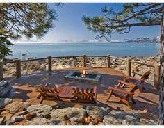 beachside fire pit on billionaire row.