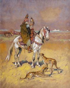 Le fauconnier arabe von Edouard Edmond Doigneau
