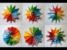 Origami - Feu d'artifice: Pliage modulaire qui se transforme [Senbazuru] - YouTube