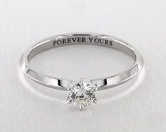 .3ct Round Solitaire Engagement Ring in White Gold - See it in 360 HD SuperZoom!