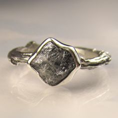 raw diamond ring - Google Search