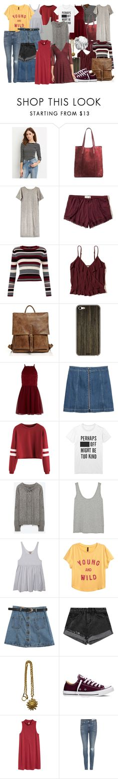 """""""Gryffindor inspired masterpost"""" by theroyalsfashion ❤ liked on Polyvore featuring Forever 21, Merona, Lauren Manoogian, Hollister Co., New Look, Toast, H&M, INDIE HAIR, The Row and Chicnova Fashion"""