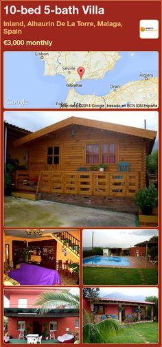 10-bed 5-bath Villa to Rent in Inland, Alhaurin De La Torre, Malaga, Spain ►€3,000