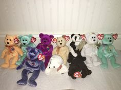 7c869dffa85 Items similar to Millennium Bears! Pack of 10! on Etsy. Beanie  BabiesBearsBaby ...