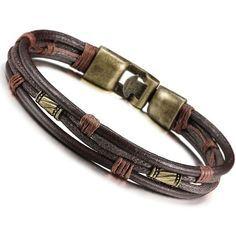 Jstyle 3 Pcs Bracelet Homme Alliage avec Leather Cuir cordon - Chaîne de  Main - Tribal Tressé - Bracelets-manchettes - 21.5 cm de Longueur   Amazon.fr  ... 4a6859d87f77