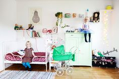 white and colour shared childrens bedroom3 5 White Rooms With a Touch Of Colour