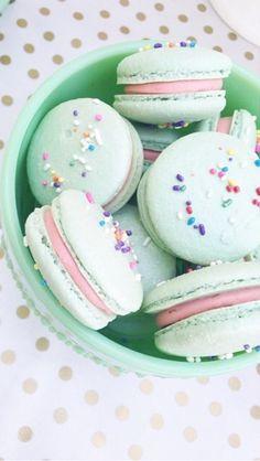Sprinkle macarons @Melody Gee Gee Brandon