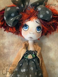 OOAK Art Doll Annie Urchin Childhood by lilliputloft on Etsyl......(ooooh little girl....why do you pout?)....i LOVE her!!