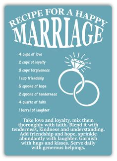 Recipe For A Happy Marriage -Metal Wall Sign Plaque Art- Love Family Wife House Christ Centered Marriage, Marriage Prayer, Godly Marriage, Marriage Goals, Successful Marriage, Save My Marriage, Marriage Relationship, Love And Marriage, Marriage Scripture