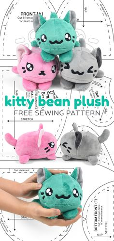 There's a new free pattern up on my blog today! It's a tsum-tsum inspired stackable plush – a cute kitty bean! https://cholyknight.com/2017/11/10/kitty-bean-plush/ It's got a simple oval shape with adorable little paws that peek out beneath the face...