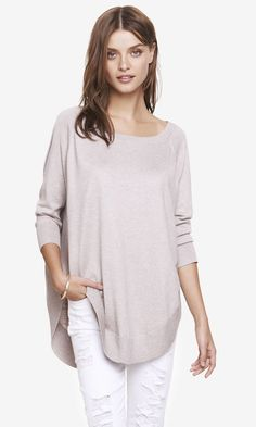 Express Extreme Circle Hem Tunic Sweater available for $59.90