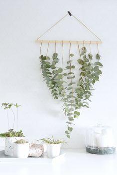 DIY eucalyptus wall hanger