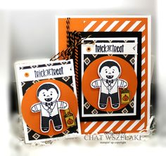 Hello Peeps !!! Happy Wednesday !!! I made this cute trading cards for our swap today using the Cookie Cutter Halloween ...