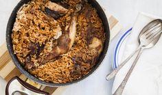 איך להכין טבית • חמין אורז ועוף עיראקי | The Kitchen Coach Jewish Recipes, Mediterranean Recipes, Oatmeal, Food And Drink, Turkey, Cooking Recipes, Beef, Chicken, Baking