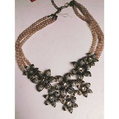 Beautiful Flowered Inspired Necklace Very beautiful necklace. No damage. Jewelry Necklaces
