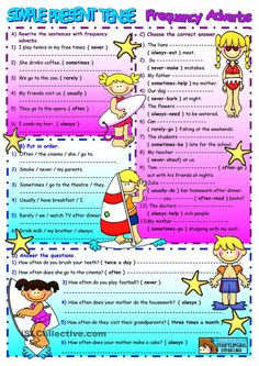 Frequency Adverbs/Simple Present Tense