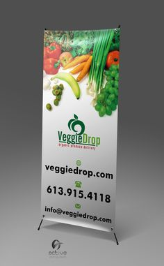 Organic Food Rollup Banner http://activecomputech.com