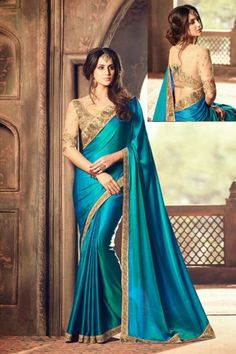 Stylish Blue Silk Saree With Blouse - DMV11151