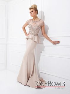"For the Mother of the Bride -- Who doesn't want to ""look like a Mother"" Tony Bowls Evenings-CO-Runway - TBE21408"