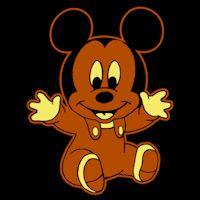 Disney Babies Mickey - Shaded Pumpkin Pattern