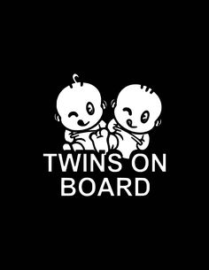Twins On Board Girls Nipples Cute Funny Baby Car Bumper Sticker Decal 5 x 5