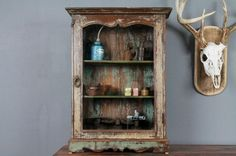 Distressed Hanging Cabinet RESERVED for by hammerandhandimports