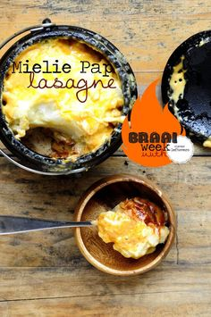 Get the Recipe to make Mieliepap Lasagne for Braai Day from Clever Leftovers! Braai Recipes, Lunch Recipes, Cooking Recipes, Yummy Recipes, Recipies, South African Dishes, South African Recipes, Pap Recipe, Kos