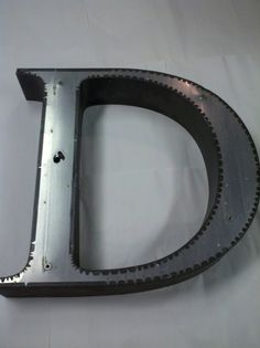 Huge Industrial Metal Letter D Industrial Hanging by YourNumbersUp
