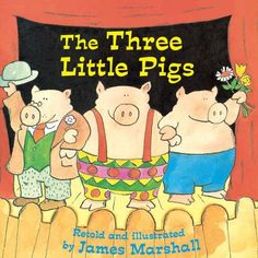 The Three Little Pigs (Reading Railroad) by James Marshall,http://www.amazon.com/dp/0448422883/ref=cm_sw_r_pi_dp_lsCwsb073558PQ9H