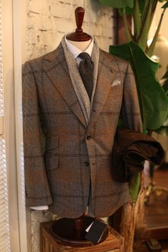 Blue Label customer's jacket. Made with Fox fabric and slanted pockets for that British touch.