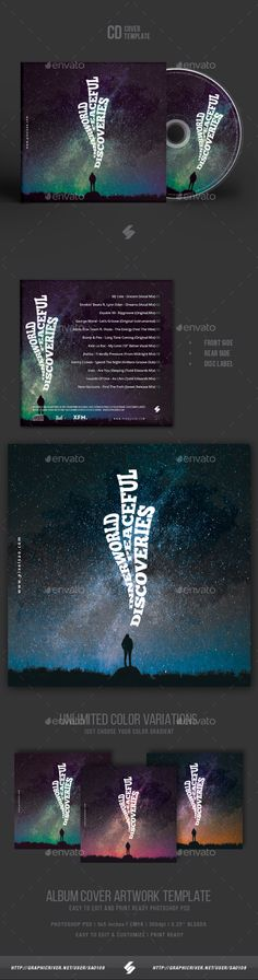 Inner World Peaceful Discoveries - Creative CD Cover Artwork Template