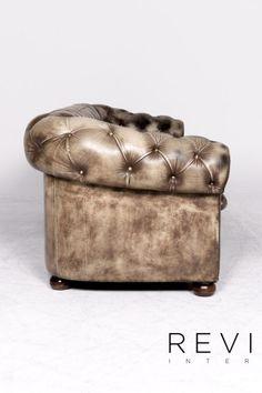 Chesterfield Leder Sofa Leder Sofa Sessel Garnitur Creme Muster Echtleder Stuhl Dreisitzer Couch Vintage Retro 8757 Sofa Sessel Gebraucht Kaufen Sofa Leder Sofa Sessel Sofa