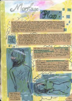 Montage Project: Planning/Brainstorming pages by Chhavi Kumar Art Portfolio, Art Pieces, How To Plan, Create, Books, Projects, Log Projects, Libros, Blue Prints