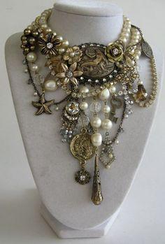 from http://www.etsy.com/people/JeanieSchlegel Gaudy chunky jewelry - love it!