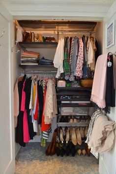 The Princess and The Frog shows off her completed New Years Resolution - her organized elfa closet!